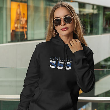 Finland 358 Womens Pullover Hoodie