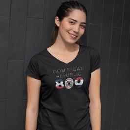 Dominican Republic 809 Womens T-Shirt