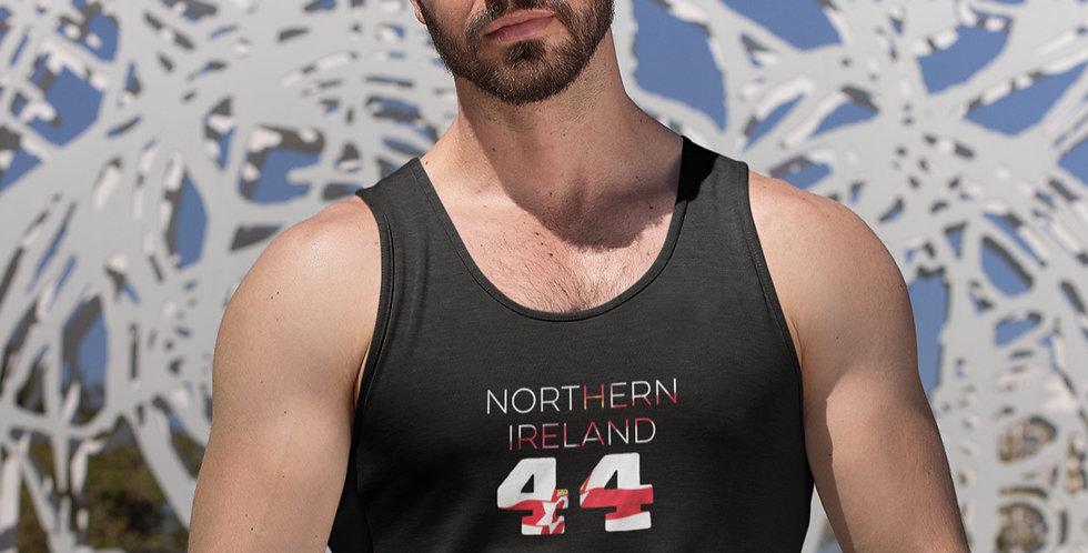 Northern Ireland Mens Black Tank Top Vest