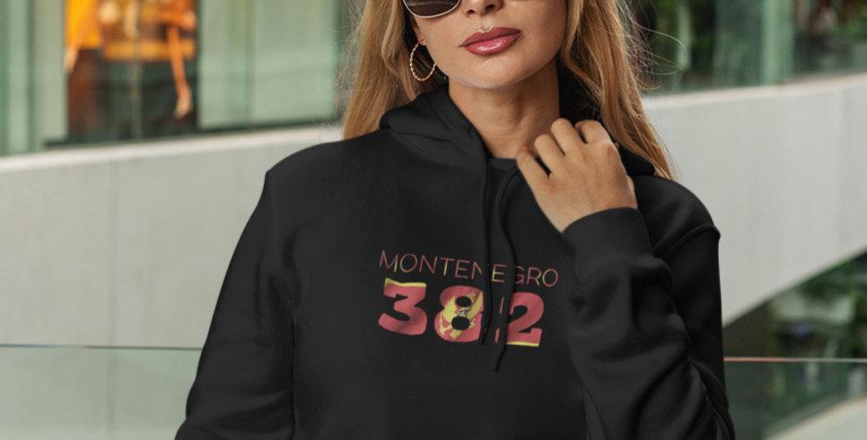 Montenegro Womens Black Hoodie