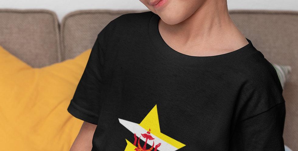 Childrens Brunei Black T-Shirt