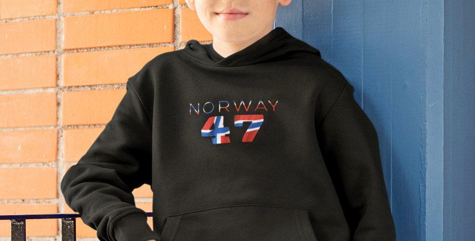 Norway Childrens Black Hoodie