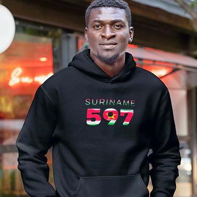 Suriname 597 Men's Pullover Hoodie