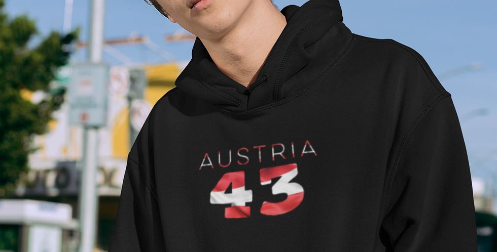 Austria Mens Black Hoodie
