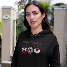 Dominican Republic 809 Womens Pullover Hoodie