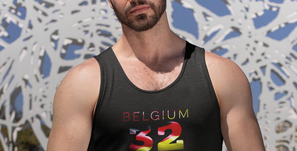 Belgium Mens Black Tank Top Vest