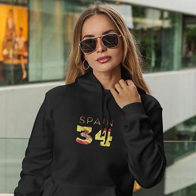 Spain 34 Womens Pullover Hoodie