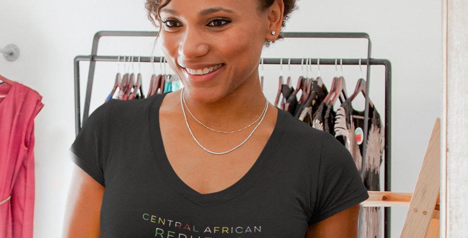 Central African Republic Womens Black T-Shirt
