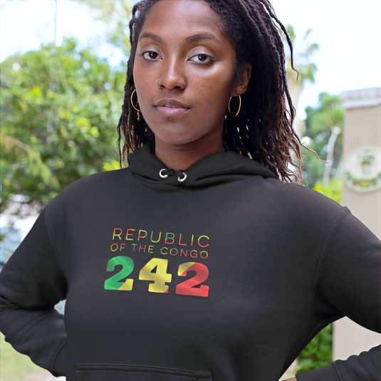 Republic of the Congo 242 Women's Pullover Hoodie