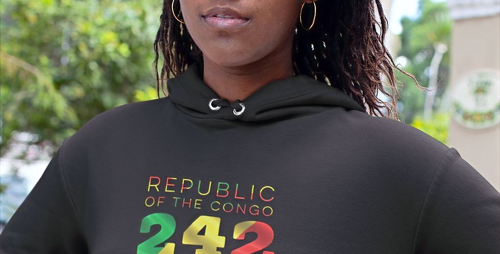 Republic of the Congo Womens Black Hoodie