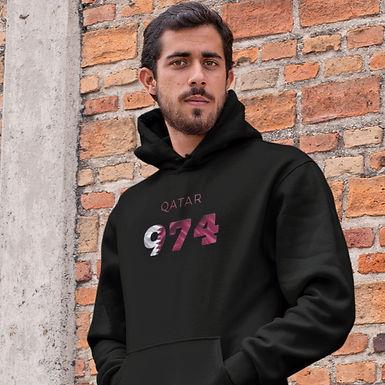 Qatar 974 Mens Pullover Hoodie
