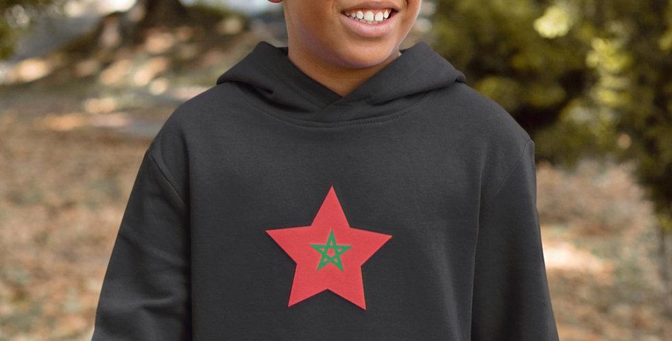 Morocco Childrens Black Hoodie