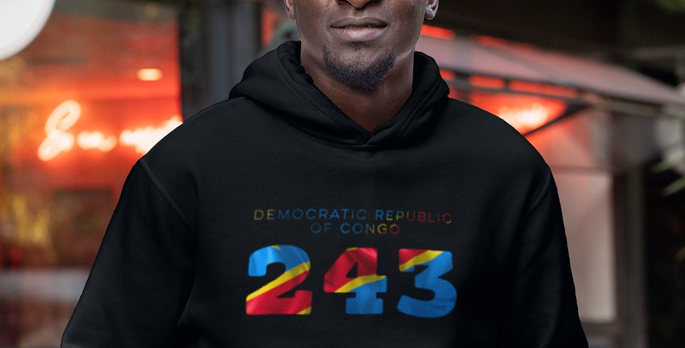 Democratic Republic of Congo Mens Pullover Hoodie