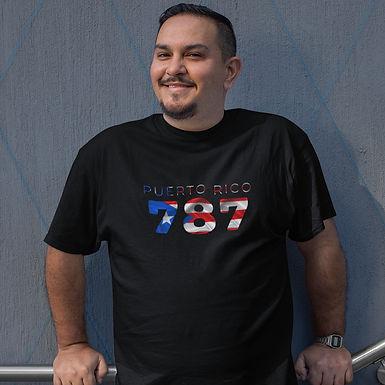 Puerto Rico 787 Mens T-Shirt