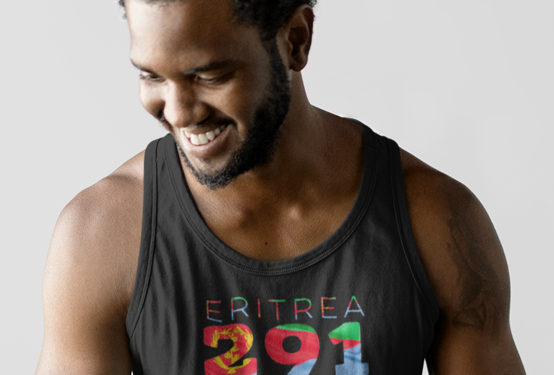 Eritrea Mens Black Tank Top
