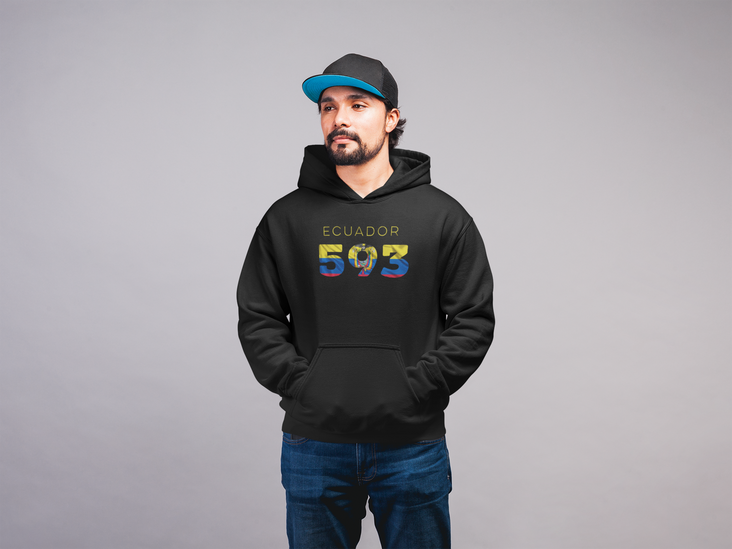 Ecuador Mens Pullover Hoodie