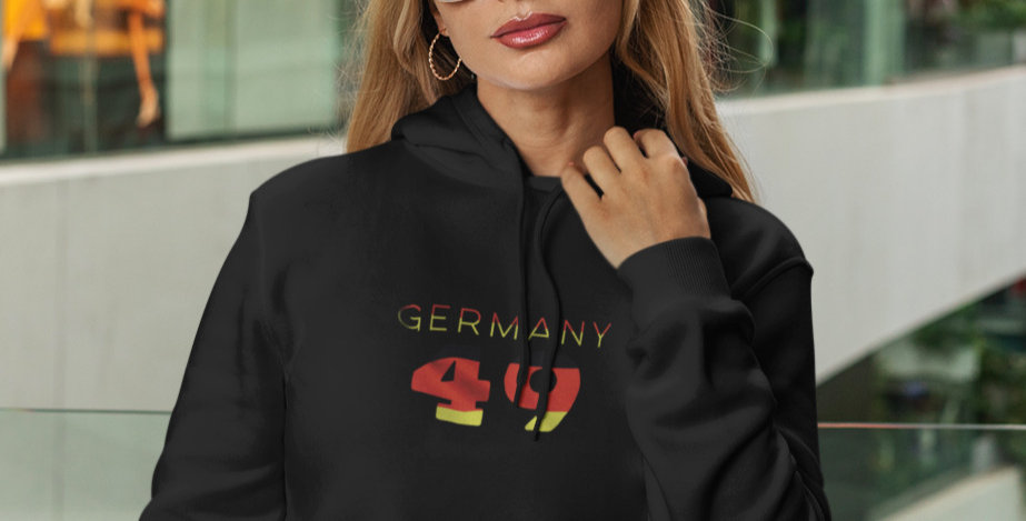 Germany Womens Black Hoodie