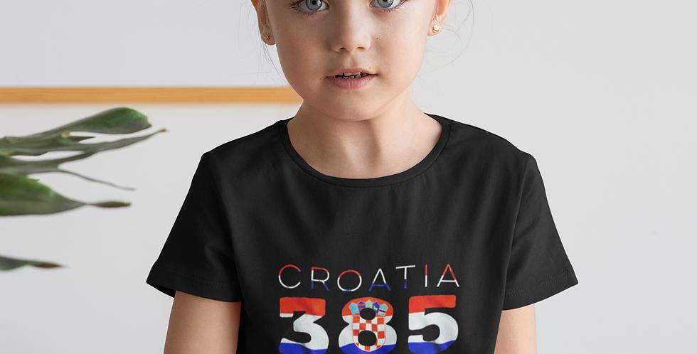 Croatia Childrens Black T-Shirt