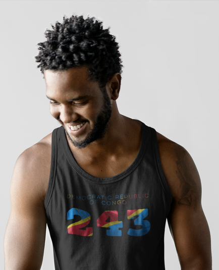 Democratic Republic of Congo 243 Mens Tank Top