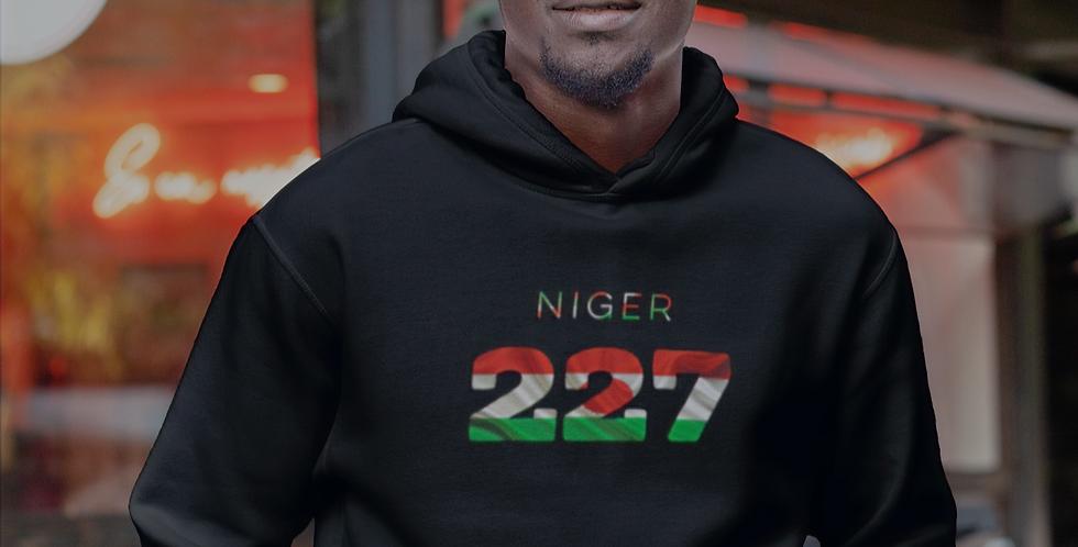 Niger Mens Black Hoodie