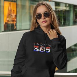Croatia 385 Womens Pullover Hoodie