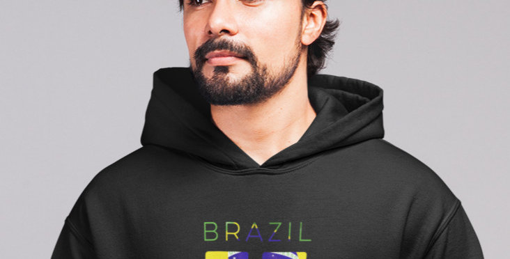Brazil Mens Pullover Hoodie