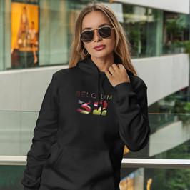Belgium 32 Womens Pullover Hoodie