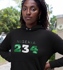 Nigeria 234 Womens Pullover Hoodie