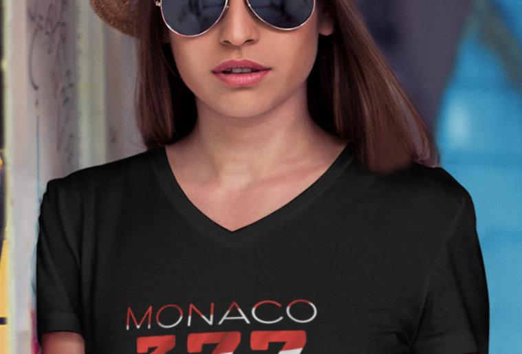 Monaco Womens Black T-Shirt