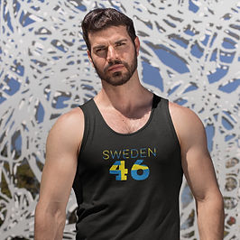 Sweden 46 Mens Tank Top
