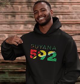 Guyana 592 Mens Pullover Hoodie