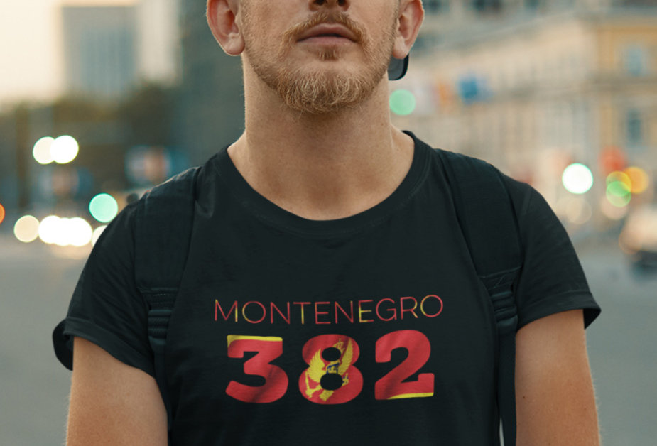 Montenegro Mens Black T-Shirt