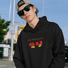 Germany 49 Mens Pullover Hoodie