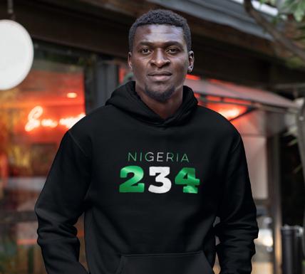 Nigeria 234 Mens Pullover Hoodie