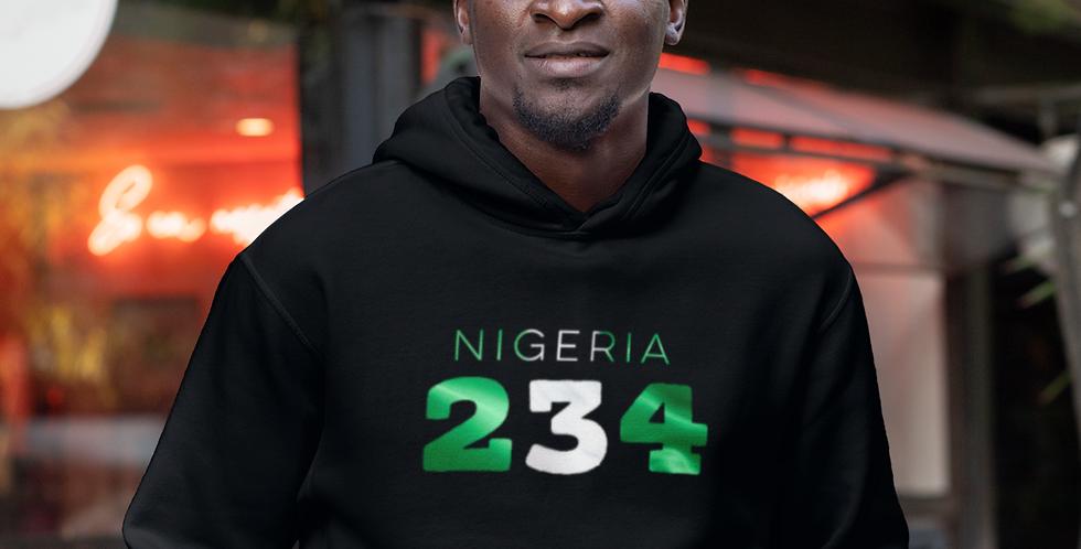 Nigeria Mens Black Hoodie