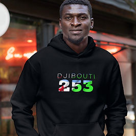 Djibouti 253 Men's Pullover Hoodie