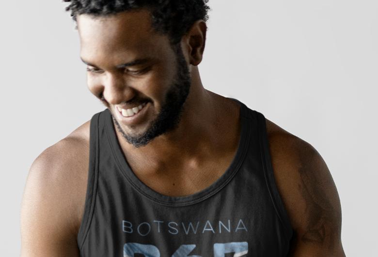 Botswana Mens Tank Top Vest