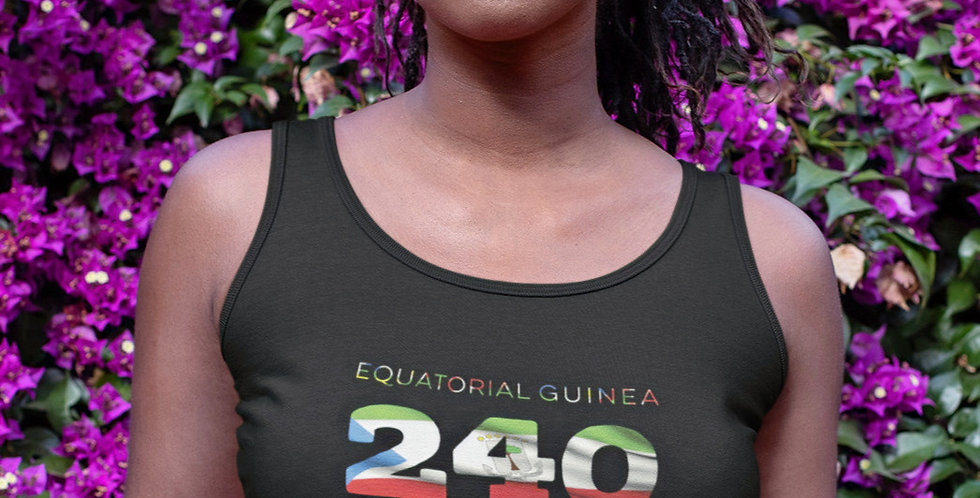 Equatorial Guinea Womens Black Vest Tank Top