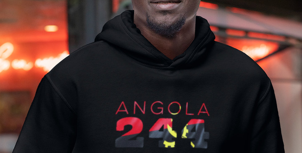 Angola Mens Black Hoodie