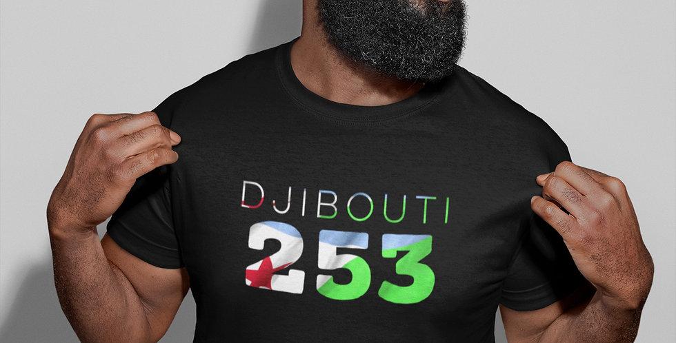 Djibouti Mens Black T-Shirt