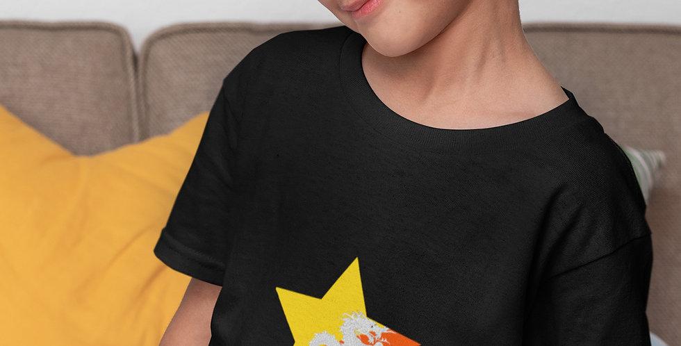 Childrens Bhutan Black T-Shirt