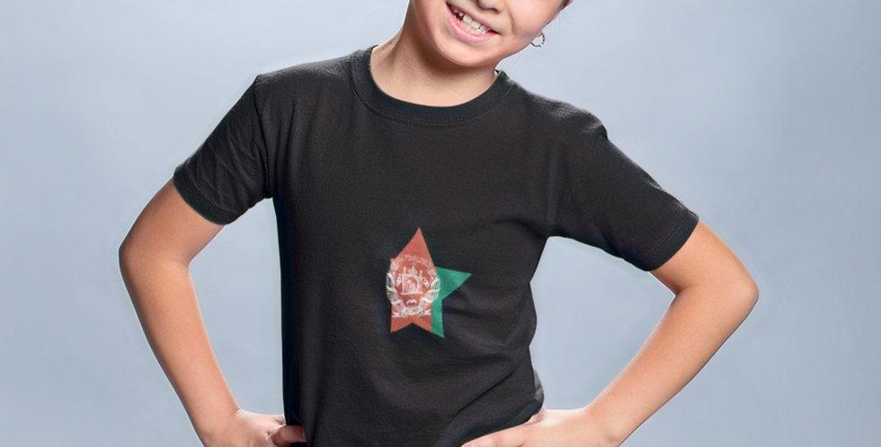 Afghanistan Childrens Black T-Shirt