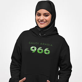 Saudi Arabia 966 Womens Pullover Hoodie