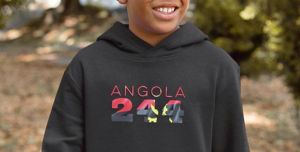 Angola Childrens Black Hoodie