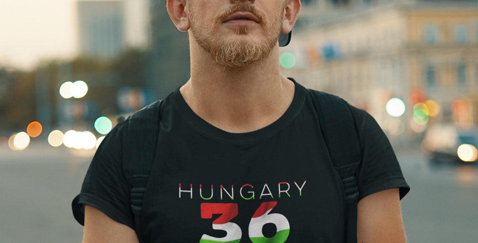 Hungary Mens Black T-Shirt