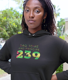 Sao Tome and Principe 239 Women's Pullover Hoodie