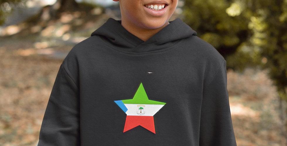 Equatorial Guines Childrens Black Hoodie