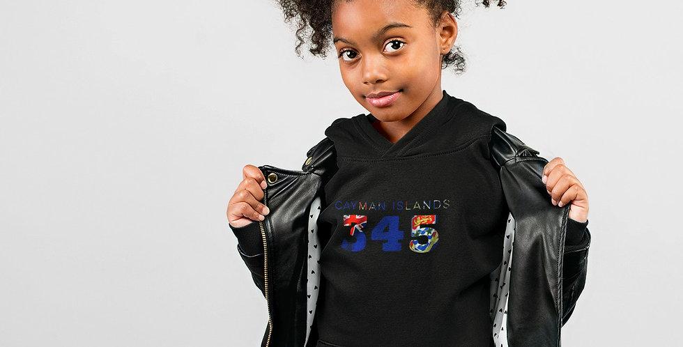 Cayman Islands Childrens Black Hoodie
