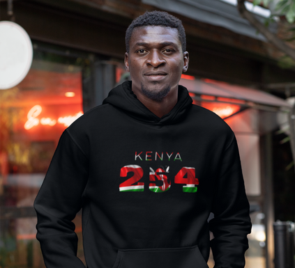 Kenya 254 Mens Pullover Hoodie