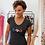 Guadeloupe Womens Black T-shirt